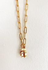 "SENNOD Mini Paperclip Vignette Chain Gold - 24"""