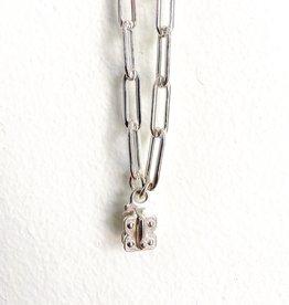 "SENNOD Paperclip Vignette Chain - 24"" Sterling"