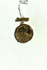 SENNOD Gold Liberty Coin on Bar Vignette