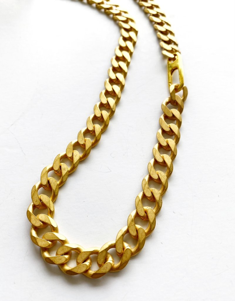 "SENNOD Matte Heavy Italian Chain 20"" Necklace"