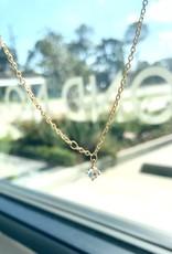 "SENNOD Moonstone - 18"" - Gold Necklace"