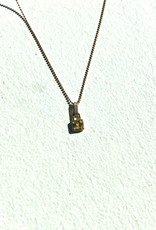 "SENNOD Brooklyn Diamond Lock - 16"" - Gold Necklace"