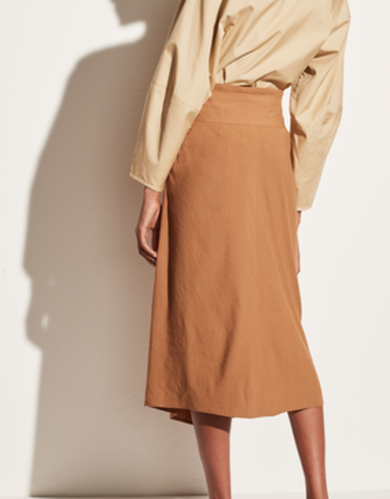 VINCE Tie Front Linen Skirt -