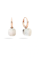POMELLATO Petite Nudo Gele White Topaz with Mother of Pearl Earrings
