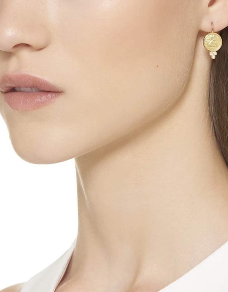 TEMPLE ST CLAIR Angel Earrings with Diamonds