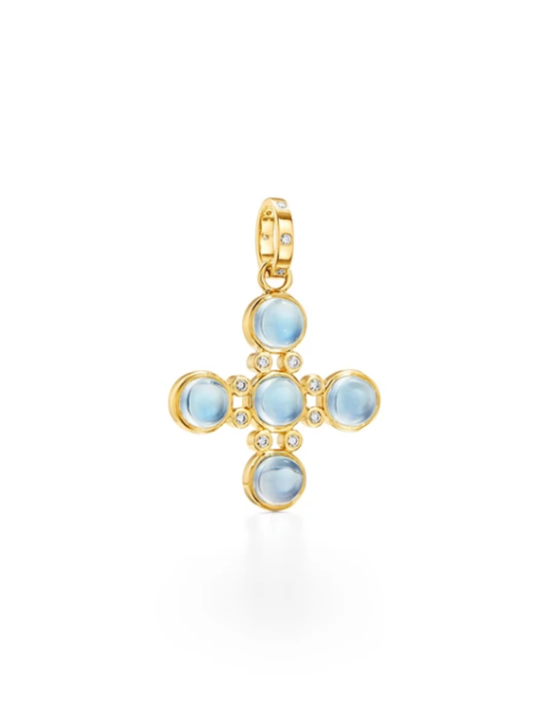 TEMPLE ST CLAIR 18K Small Four Elements Cross