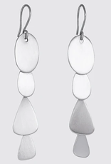 JANE DIAZ Silver Abstract Organic Cascade Earrings