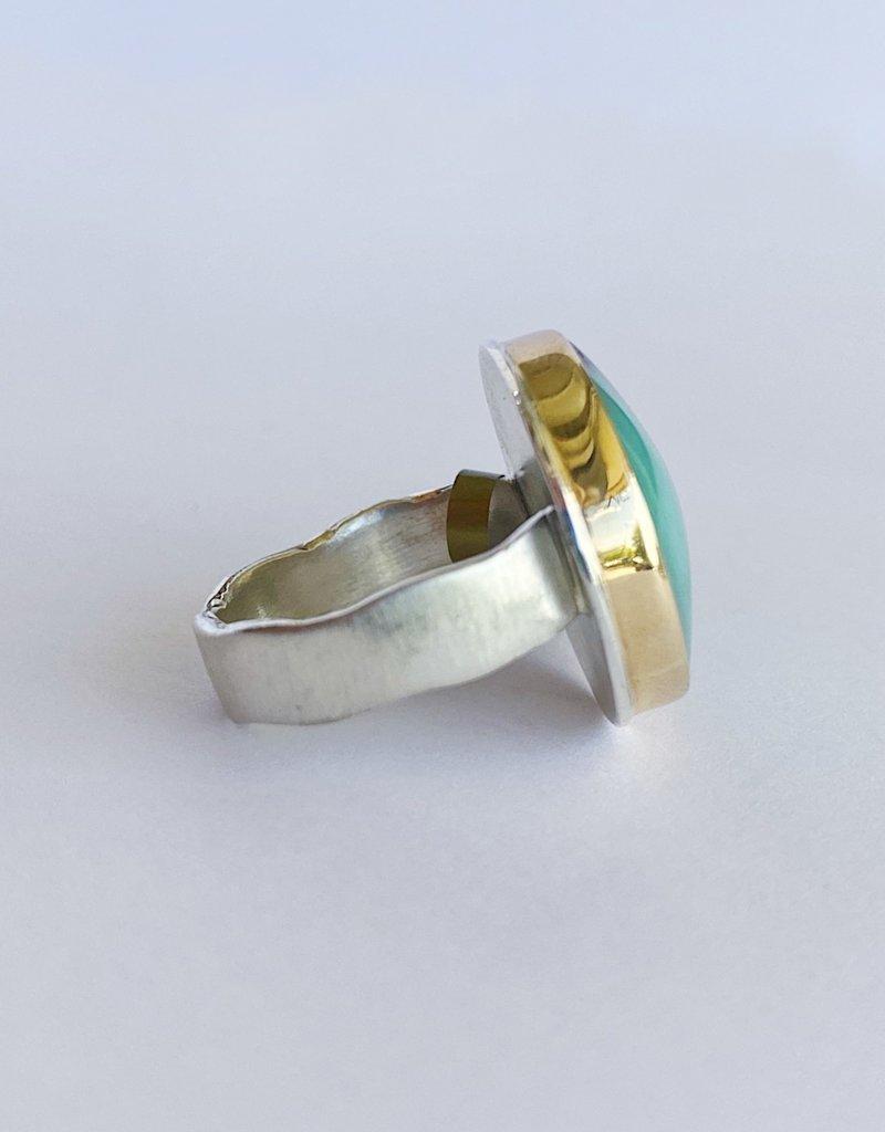 JAMIE JOSEPH Round Smooth Boulder Chrysoprase Ring