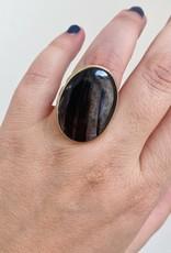 JAMIE JOSEPH Vertical Oval Smooth Hypersphene Ring