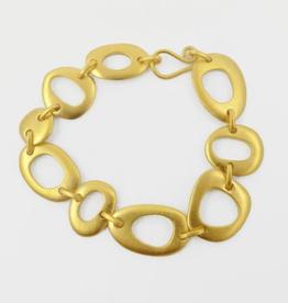 JANE DIAZ Organic Shapes Linked Bracelet