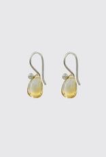 JANE DIAZ Sterling Citrine Tear Drop Earrings