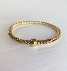 302 COLLECTION 14K Gold Plated Woven Stretch Bracelet
