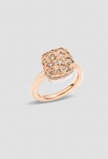 POMELLATO Maxi Nudo Brown Diamond Solitaire Ring