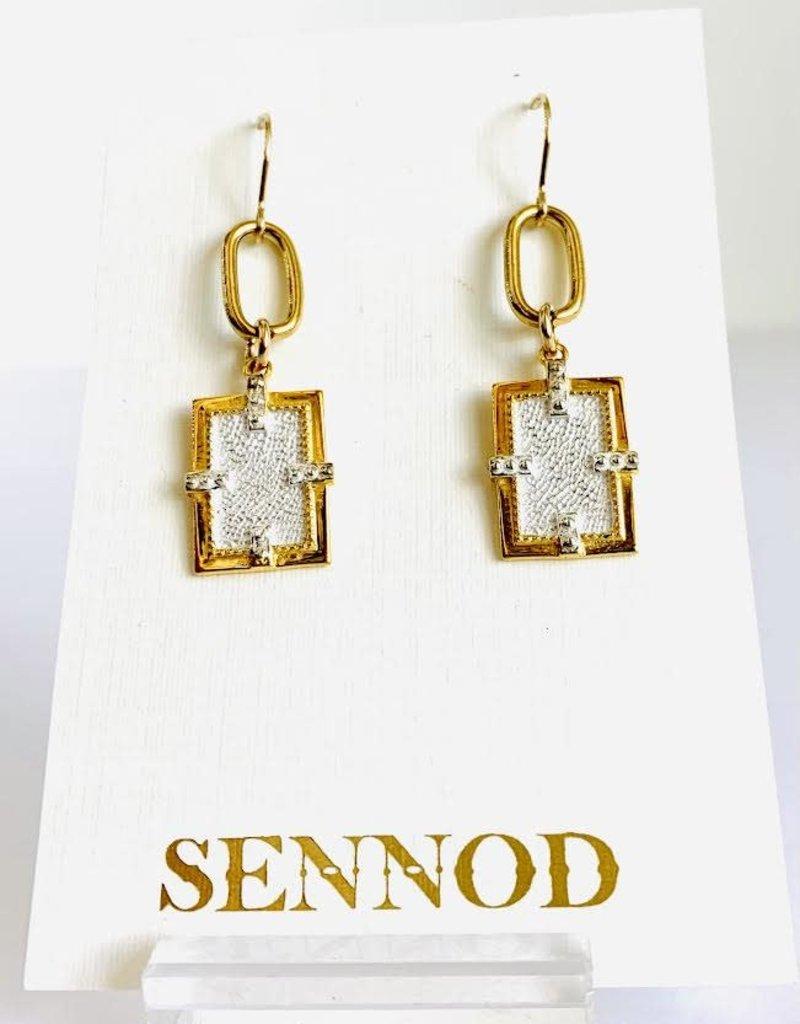 SENNOD Axis 2-Tone Earrings