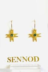 SENNOD Pebble Star Blue Quartz Earrings