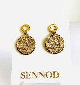 SENNOD Botanic Medallion Remy Post Earrings