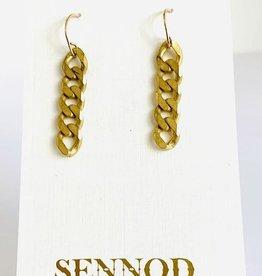 SENNOD Italian Curb Chain Earrings
