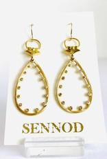SENNOD Remy Diamond Teardrop Earrings
