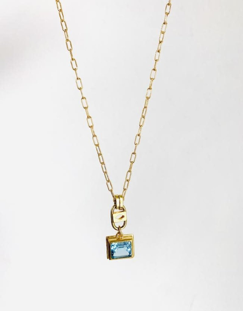"SENNOD Pixie Blue Topaz 20"" Necklace"