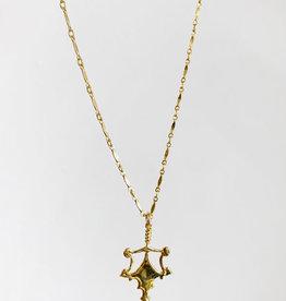 """SENNOD Polished Harper 16"""" Necklace"""
