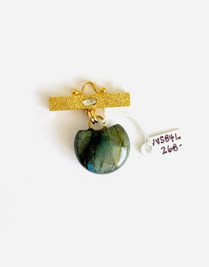 SENNOD Labradorite Puffy Stone Vignette