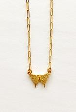 """SENNOD Diamond Butterfly 16"""" Necklace"""