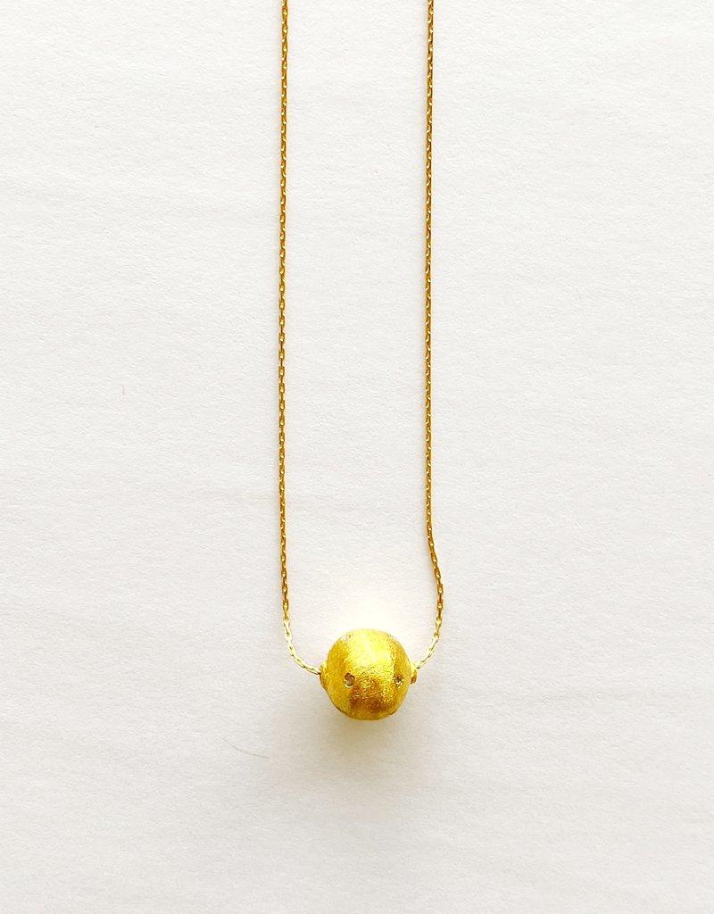 "SENNOD Large Remy Diamond Ball 18"" Necklace"