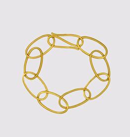 JANE DIAZ Oval Link Bracelet