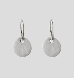 JANE DIAZ Small Silver Coin Drop Earring