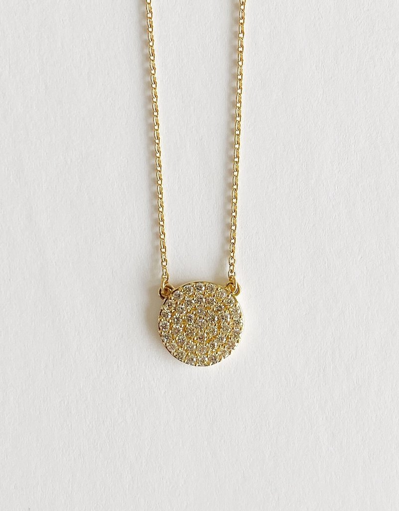 302 COLLECTION 1/3CT Round Diamond Cluster Necklace