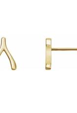 302 COLLECTION 14KT Wishbone Stud Earrings