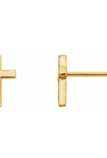 302 COLLECTION 14KT Tiny Cross Stud Earrings