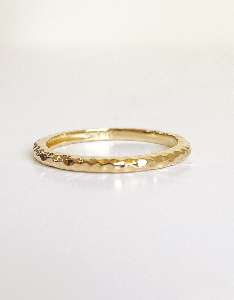 302 COLLECTION 2mm Hammered Stack Ring
