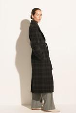 VINCE Long Plaid Coat -