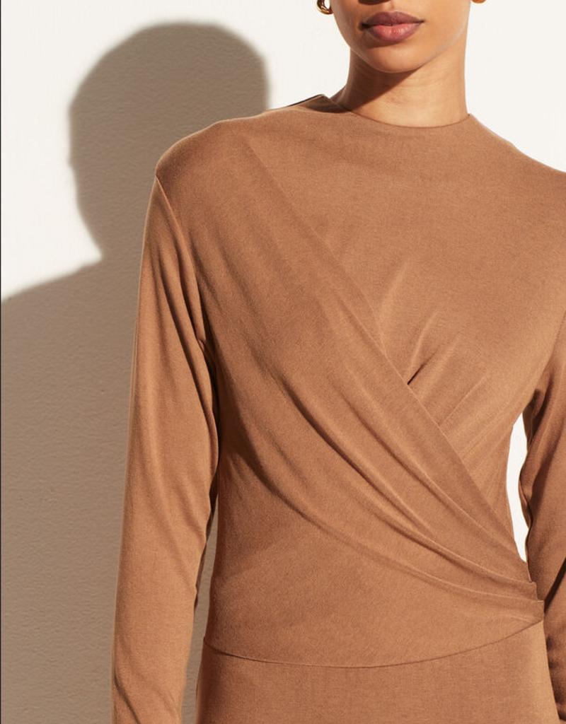 VINCE Long Sleeve Draped Dress -