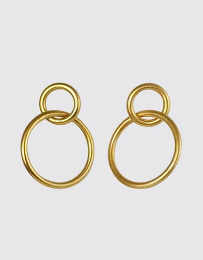 JANE DIAZ Wire Ring Stud Hoop Earrings