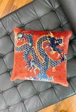 Tibet Home 20x20 Pillow - Red Dragon