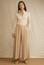 VINCE Pleat Front Flannel Culotte -