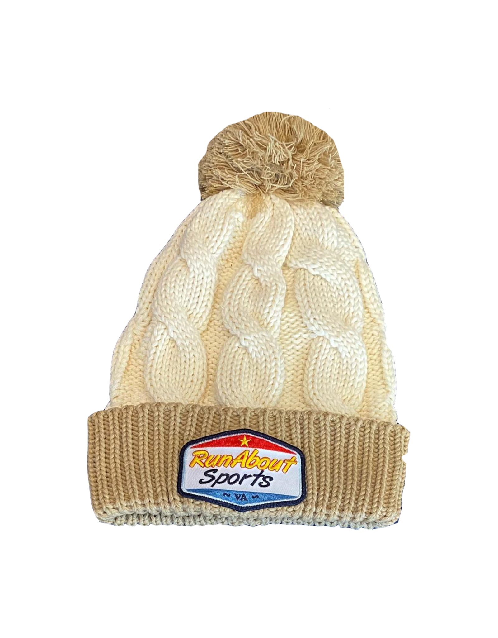 RunAbout Winter Cableknit Hat - Cream