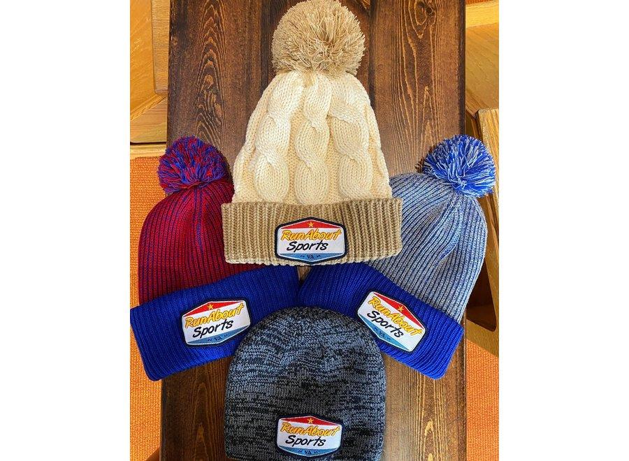 RunAbout Winter Knit Pompom Hat