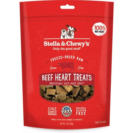 Freeze Dried Beef Heart Treats 3oz.