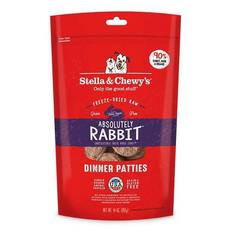 Freeze Dried Rabbit Dinner Patties 14oz.