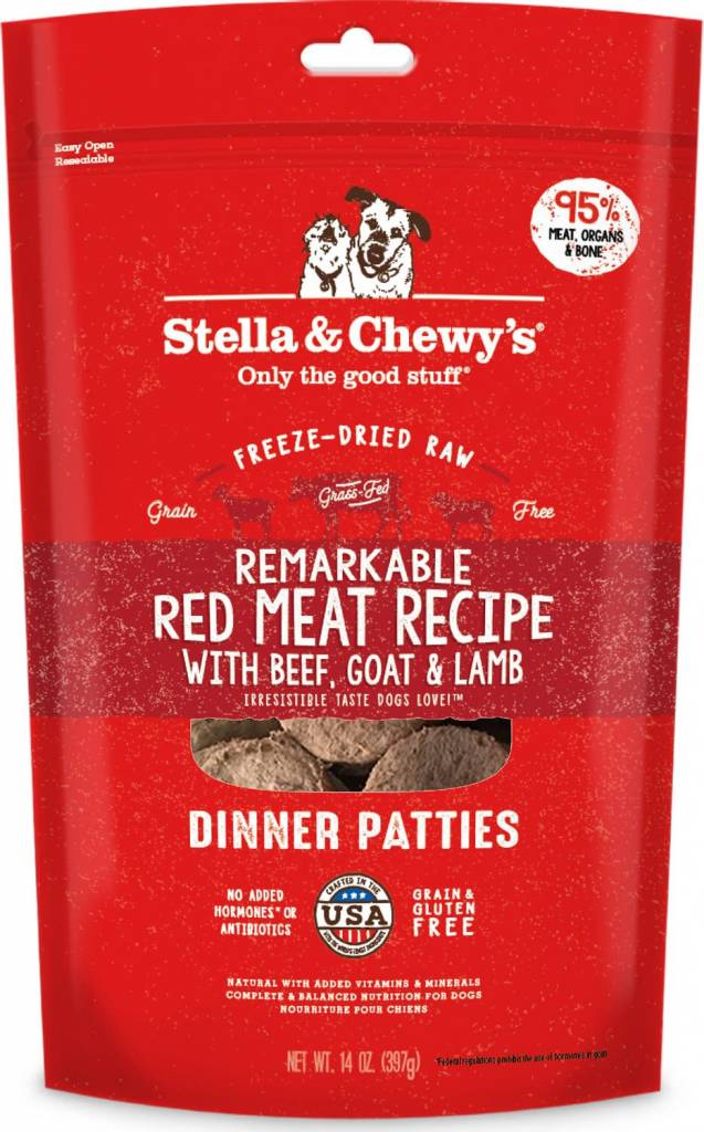 Freeze Dried Red Meat Dinner Patties 5.5oz.
