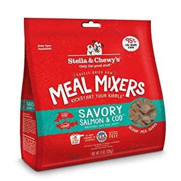 Freeze Dried Salmon/Cod Meal Mixers 9oz.