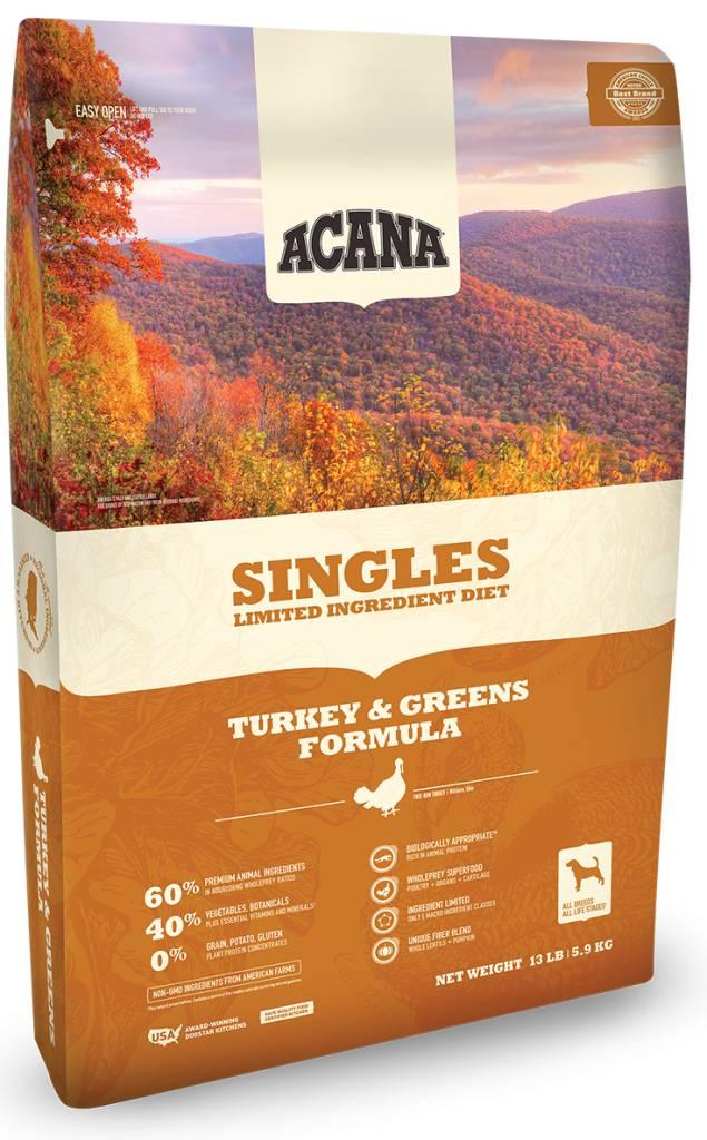 Singles Turkey/Greens 4.5lb.