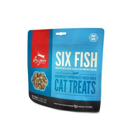 Cat Freeze Dried Six Fish Treats 1.25oz.