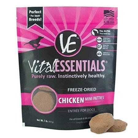 Freeze Dried Mini Patties Chicken 1lb.