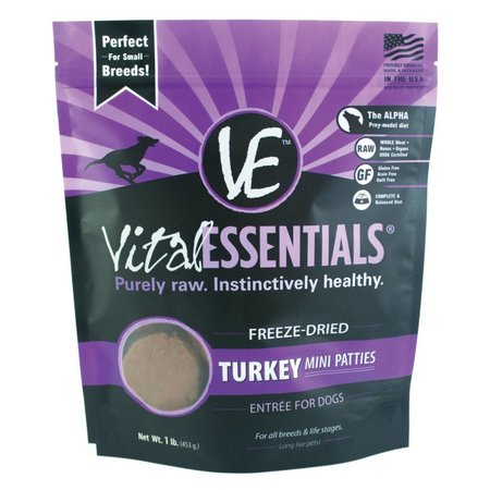 Freeze Dried Mini Patties Turkey 1lb.