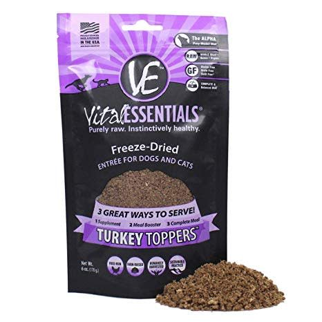 Freeze Dried Turkey Toppers 6oz.