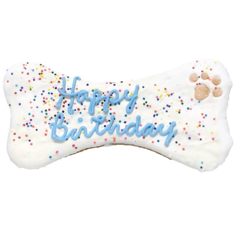 Birthday Bone Large Blue